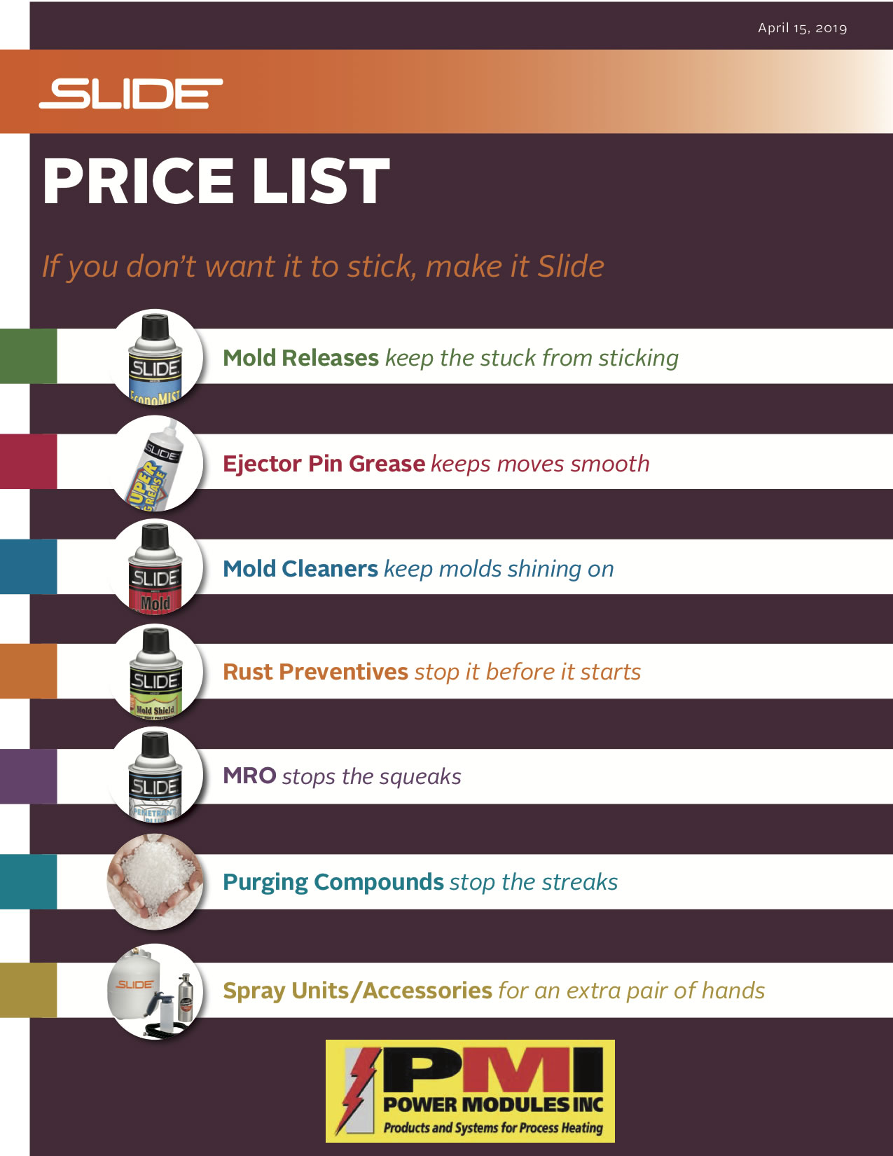 Slide User Price List with PMI Contact Info 4-15-2019